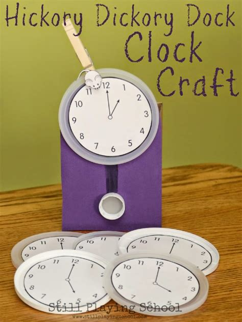 clock crafts for crafts for that will help prepare them for