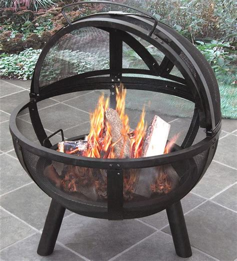 outdoor firepit covers of outdoor pit with protective cover