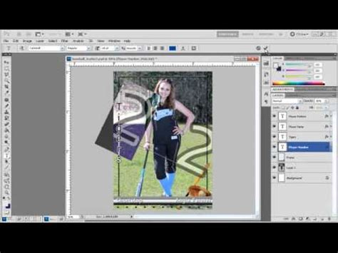 make a card in photoshop how to create sports trading cards with photoshop