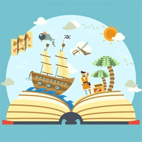 story books with pictures pirate story book vector free