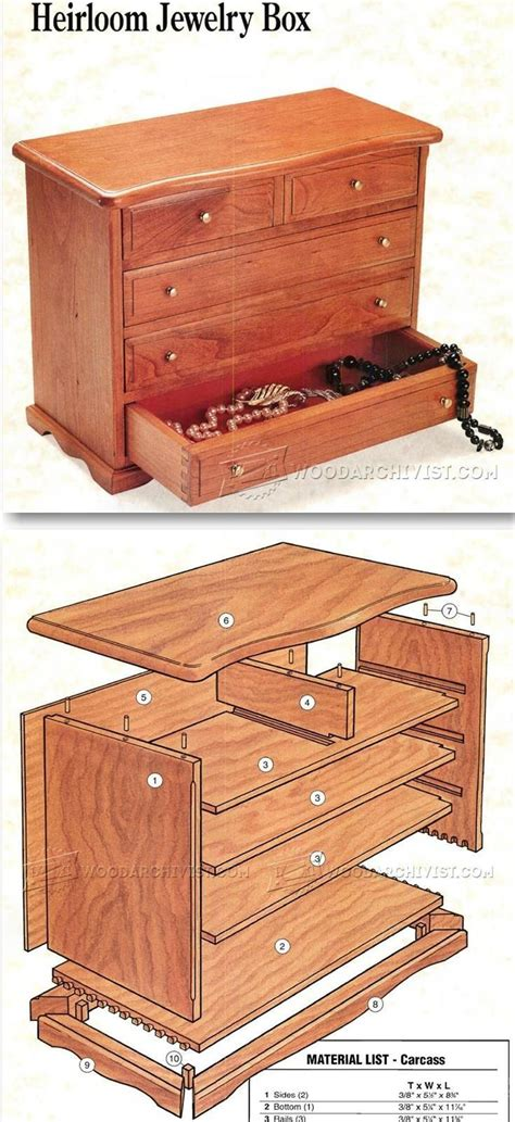 woodworking plans for jewelry box the 25 best ideas about jewelry box plans on