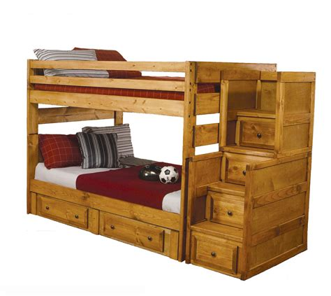 solid wood bunk beds with stairs solid wood wash oak stairs chest 2 storage drawer