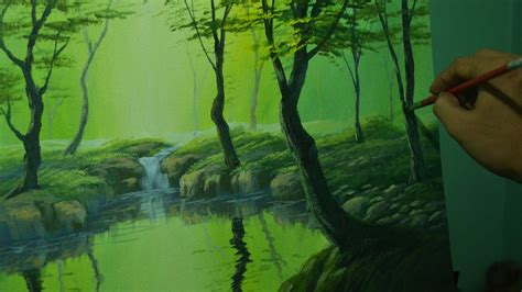 acrylic painting forest tutorial acrylic landscape painting tutorial the forest