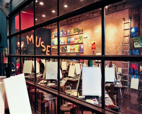 muse paintbar annapolis painting session for one two or four or adults at