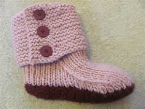 easy knitted slippers for beginners prairie boots pattern by julie weisenberger knitting