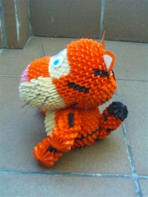 3d origami tiger tiger side jpg album 3d origami