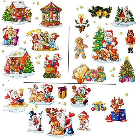 Fensterbilder Weihnachten Selbstklebend Groß by 2 Versch B 246 Statisch Haftende Fensterbilder