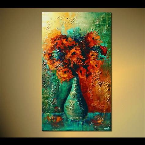 32 quot flowers modern abstract painting by osnat ebay
