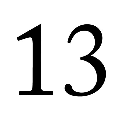 lucky number 13 lucky number 13