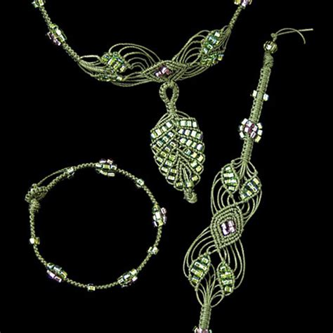 macrame jewelry the beadery jewelry necklace kit micro macrame leaves
