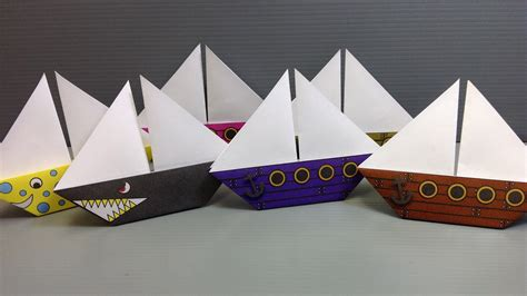 how to make a origami pirate ship free origami sailboat paper print your own pirate and