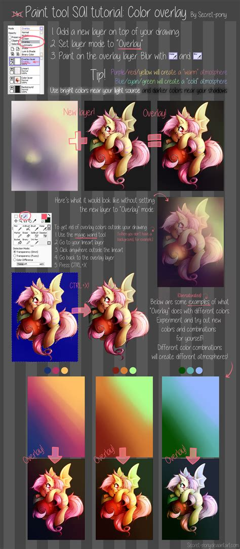 Paint Tool Sai Tutorial Color Overlay By Secret Pony On