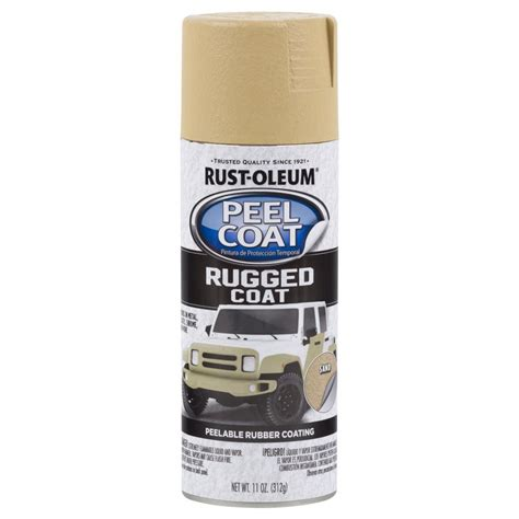 spray paint peel rust oleum automotive 11 oz peel coat rugged coat sand