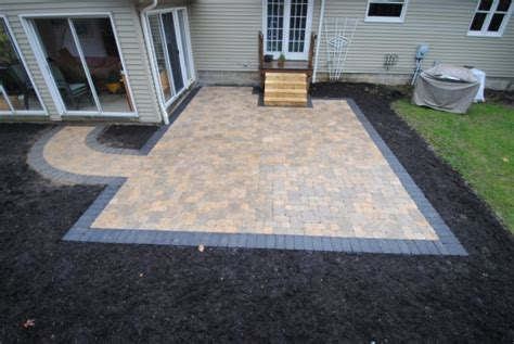 patios with pavers pavers and patios patio with wood border patio with paver