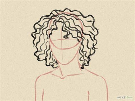 how to draw curly hair how to draw curly hair
