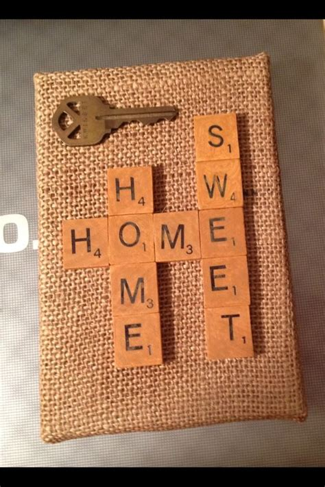 scrabble paper craft new home card use scrabble tile sts to make