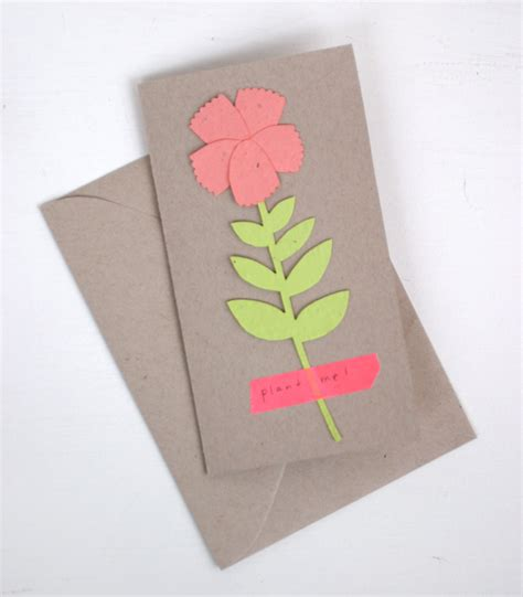 how to make seed cards plant a flower day card