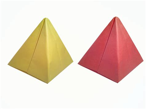 paper pyramid craft how to make paper pyramid easy diy crafts