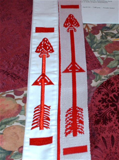 beaded oa sash order of the arrow woven vigil sash poore house