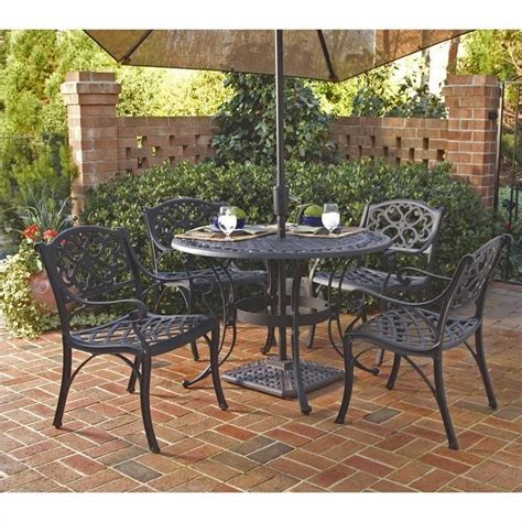 metal patio dining sets 5 metal patio dining set in black 5554 308