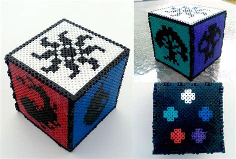 beaded boxes magic the gathering perler bead box by nostalgicwonderland