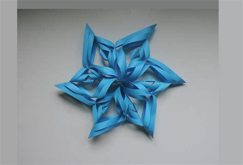 origami snowflake 3d how to make a 3d paper snowflake origami kirigami diy