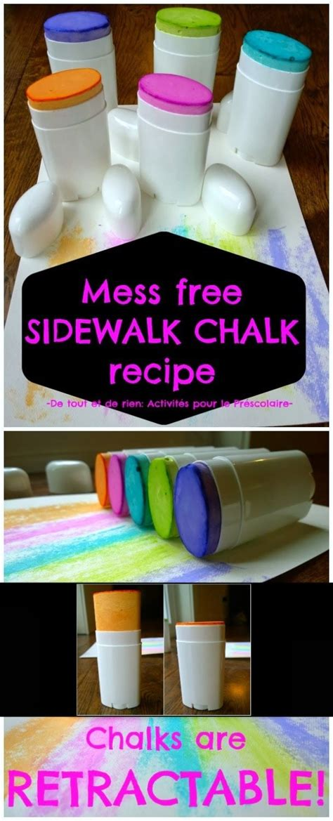 diy chalk paint without plaster of using deodorant containers to make sidewalk chalks easy