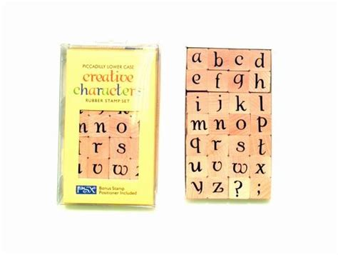 rubber st alphabet set piccadilly lower alphabet creative characters rubber
