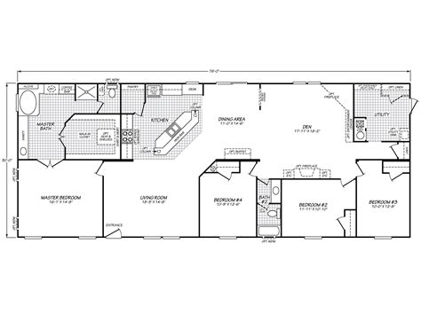 fleetwood manufactured home floor plans hill ii 32764s fleetwood homes floor plans