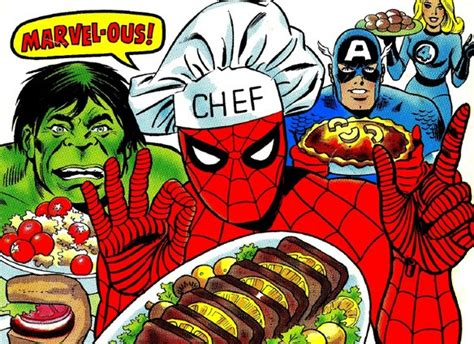 comic book pictures superheroes the mighty marvel superheroes cookbook 1977 will