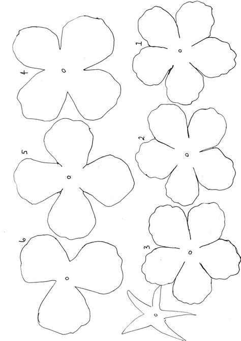 flower paper craft template best 25 flower template ideas on