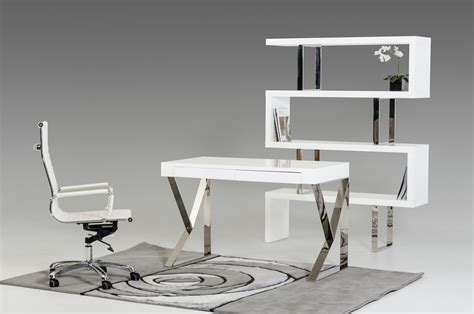 modern white desks ferris modern white lacquer office desk
