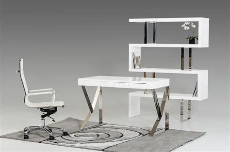 white modern office desk modrest ferris modern white lacquer office desk ebay