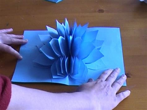 how to make a flower pop up card amazing flower pop up card