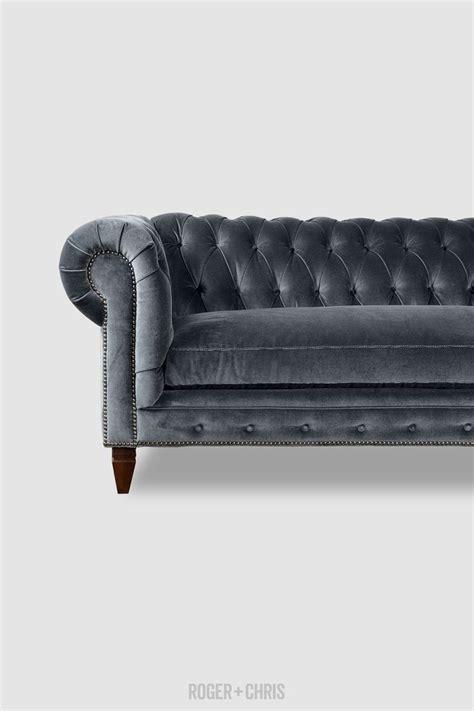 grey leather chesterfield sofa best 25 grey velvet sofa ideas on gray velvet