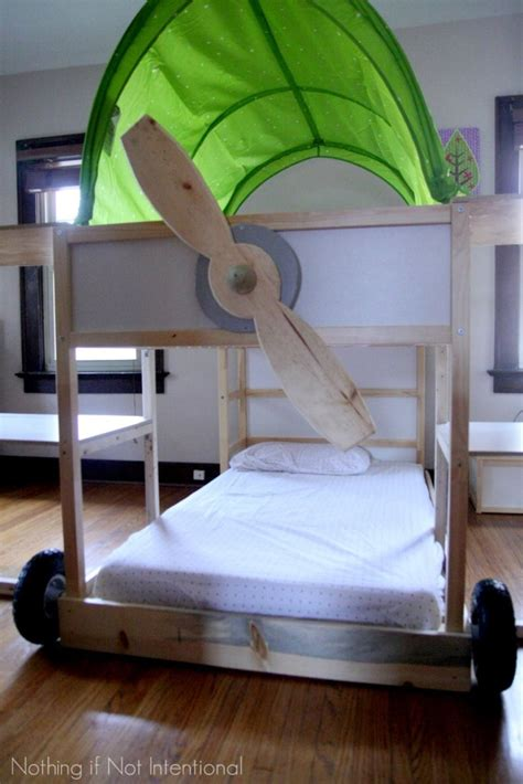 ikea hack loft bed ikea bed hack kura loft turned into an airplane bunk bed