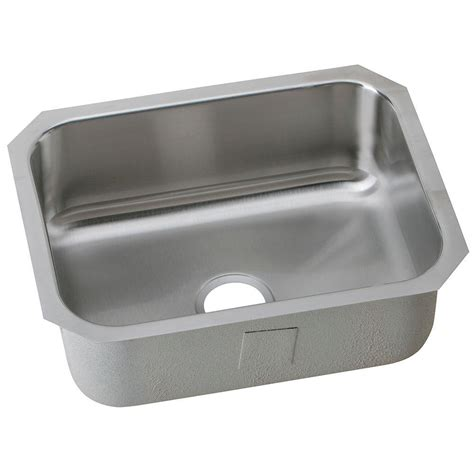 stainless steel undermount single bowl kitchen sink elkay undermount stainless steel 24 in single bowl