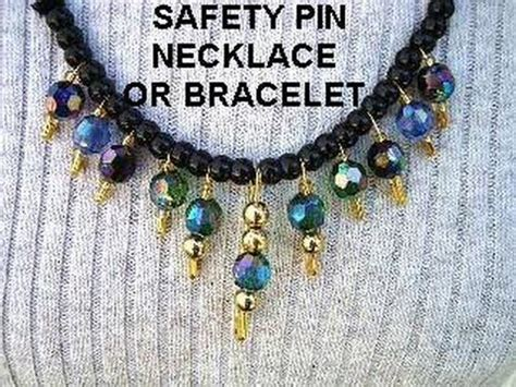 how to make costume jewelry safety pin bracelet or necklace diy jewelry easy