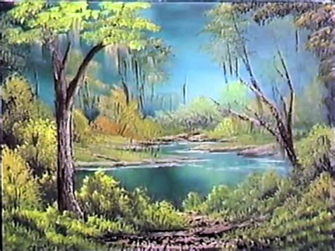 bob ross painting marshlands a pen by grovejay