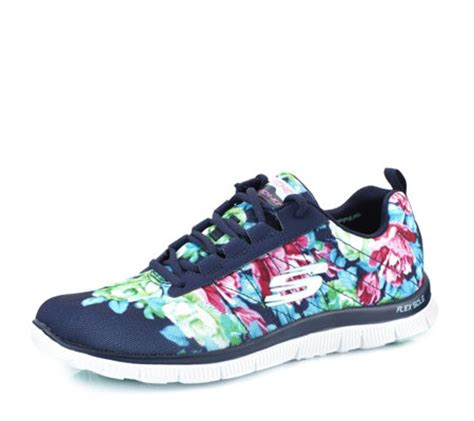 skechers skech knit memory foam skechers flex appeal printed skech knit jogger with memory