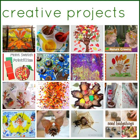 creative craft projects 50 autumn play and activities for the