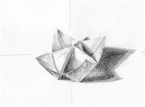 origami drawing drawing of the origami thing by kukucska on deviantart