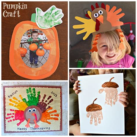 kid craft ideas for fall fall handprint craft ideas for crafty morning