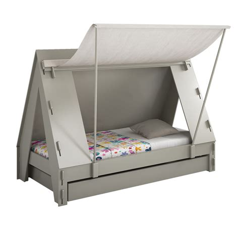 bed with tent tent bed grey from mathy by bols diddle tinkers