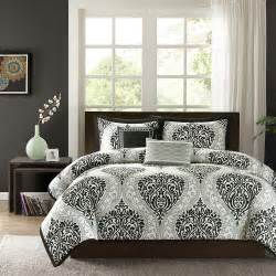 black and silver comforter set beautiful modern chic black silver grey white
