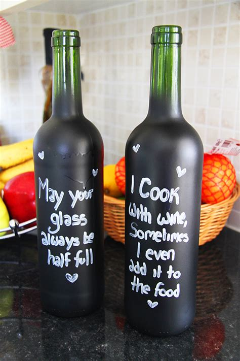 diy chalkboard bottles home diy how to create chalkboard bottles bespoke
