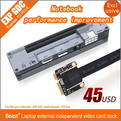 how to make a external graphics card exp gdc laptop external external pci e graphics card beast