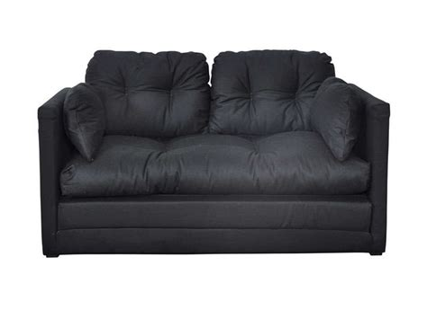 canap 233 convertible 2 places pillo coloris noir vente de canap 233 droit conforama
