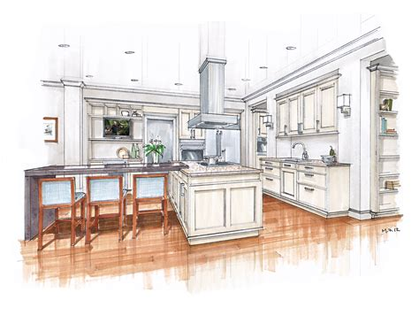 Crown Point Kitchen Cabinets new beaux arts kitchen renderings mick ricereto interior