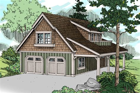 Detached Garage Design Ideas craftsman house plans garage w living 20 020